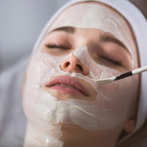 Applying Anzymatic Peeling Mask - Oh Darling Skin & Beauty Bar Mangerton, NSW